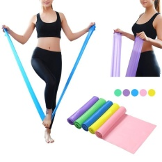 Rubber Stretch 1.5M Elastic Yoga Pilates Exercise Band Arm Back Leg Fitness - intl