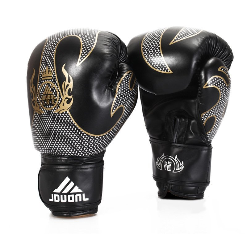 Sarung tangan tinju Men'S permainan profesional bermain memaksakan mengenakan sarung tangan hitam (