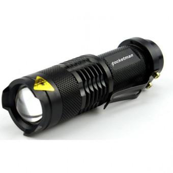 Senter Police kecil anti air Pocketman Senter LED Flashlight 2000 Lumens Waterproof camping hiking darurat laser