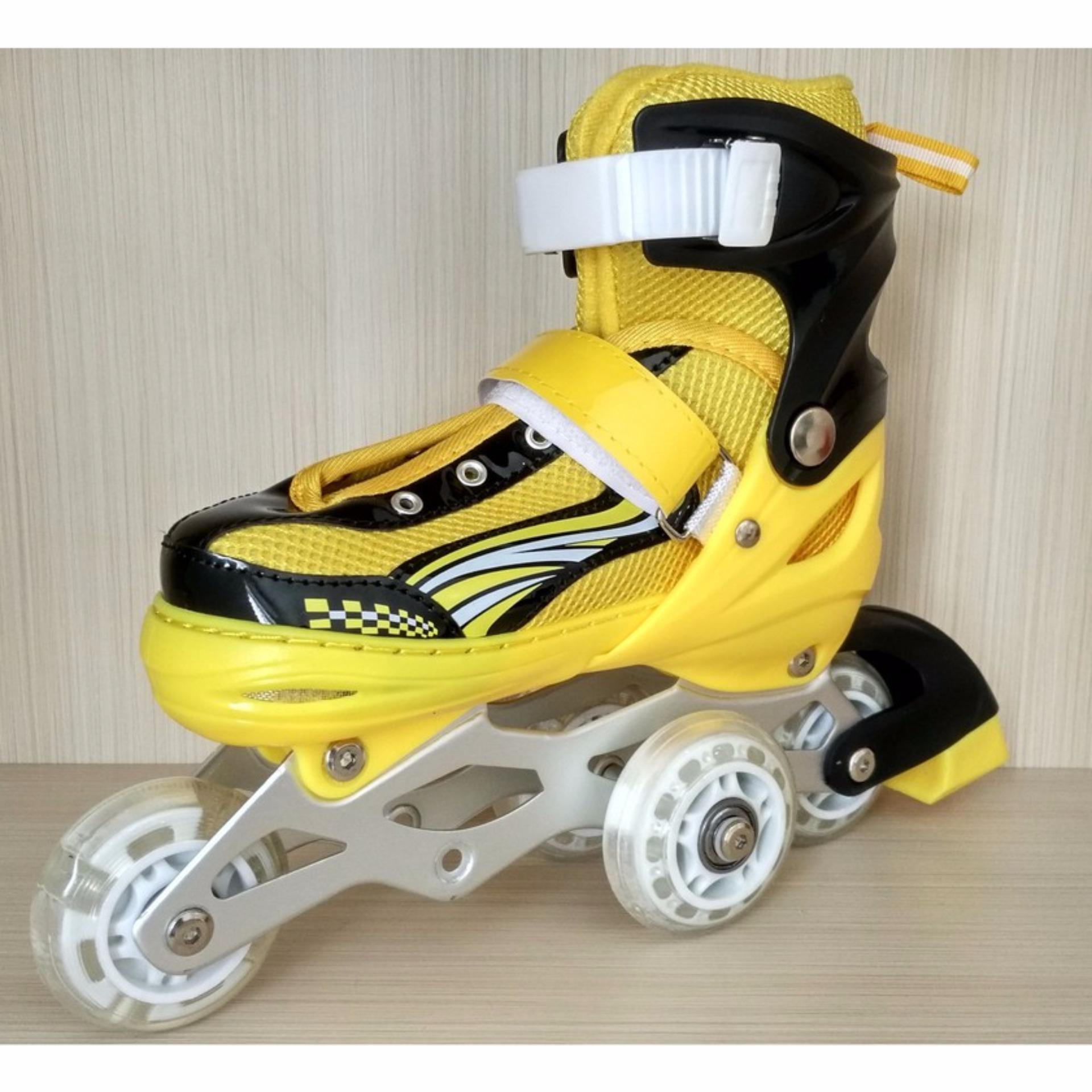 Lakoka Sepatu Roda Anak Dewasa Model Inline Bajaj Size S Biru ... fd02d6aa8a