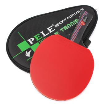 Serat karbon Tenis Meja raket Ping Pong dayung Bat panjang pendek menangani dengan tas Horizonal grip