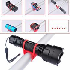 Silicone Strap Bike Bracket Mount Bike silicon Holder Flashlight Senter Sepeda