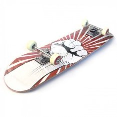 Silverfox Skateboard Maple (31X8 Inch) Red Hand LY-3108AA-Y31-82