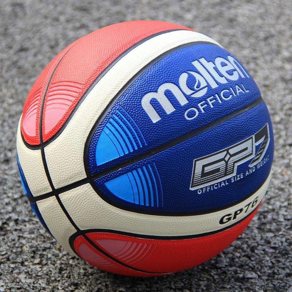 ... Size7 Molten GP76 PU Indoor Outdoor Leather Basketball BallTraining Equipment With Gift Of Ball Pin + ...