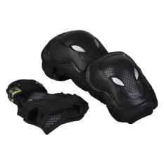 Skateboard Roller Blading Siku Lutut Pergelangan Tangan Pelindung Keselamatan Gear Pad 6 Pcs Lambertshop-Intl
