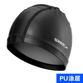 Speedo nyaman pelindung telinga tahan air topi renang dengan rambut panjang