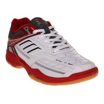 Murah Spotec Bravia Sepatu Badminton Putih Merah Barang baru ... 5b6cc97d7e