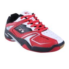 Spotec Double Hit Sepatu Badminton - Merah/Putih