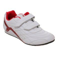 Spotec Samurai Velcro Sepatu Taekwondo - Putih-Merah