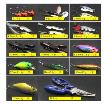 Super Value 101PCS Almighty Fishing Lures Kit with Mixed Hard Lures and Soft Baits Minnow Lures Accessories Box - intl - 4