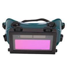 Surya Auto Penggelapan LCD Kacamata Las Helm Hitam + Hijau