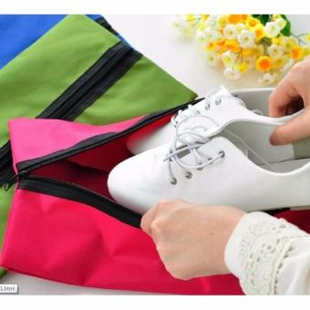Tas Sepatu Cover Sarung Sepatu Traveling Shoe Bag PolosWaterproofShoes Bag Outdoor Travel Sports Tote Case HandbagToiletry