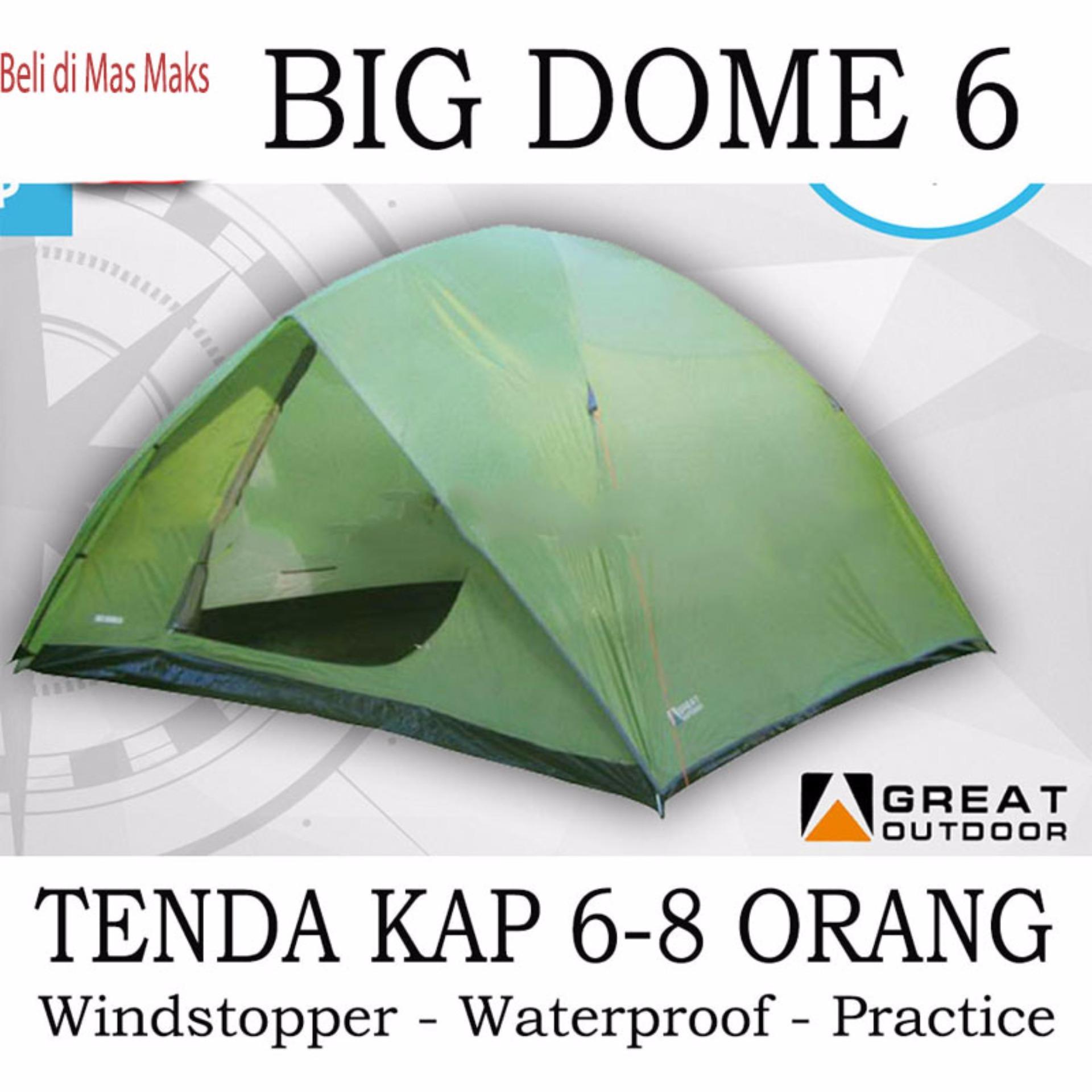 Tenda Camping Big Dome Great Outdoor Kap 6 - 8 Orang