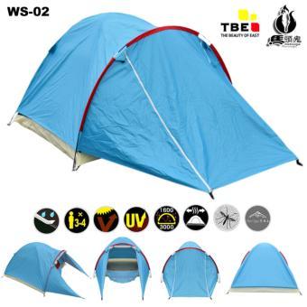 Gambar Tenda WS002 Camping Hiking Dewasa Double Layer Kapasitas 3 4Orang