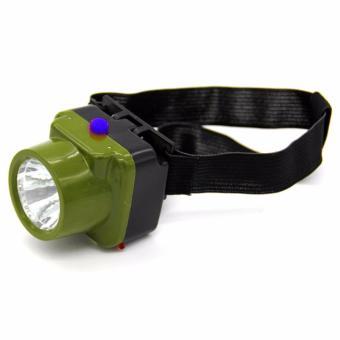 Termurah !! Viper Military Waterproof Headlamp Led Cree - Army Green / Hijau Tentara - Lampu Senter Flashlight Flash Light Head Lamp Ikat Kepala Strap Flexible Fleksibel Anti Air Cahaya Terang - 2