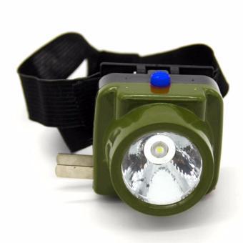 Termurah !! Viper Military Waterproof Headlamp Led Cree - Army Green / Hijau Tentara - Lampu Senter Flashlight Flash Light Head Lamp Ikat Kepala Strap Flexible Fleksibel Anti Air Cahaya Terang - 3