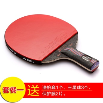 The BOLL pen carbon nano king single shot genuine reverse tabletennis racket - intl - 2