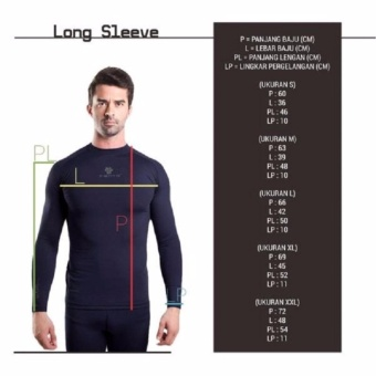 Tiento Baselayer Manset Rashguard Compression Baju Kaos KetatOlahraga Bola Renang Running Gym Fitness Yoga Long Sleeve NavySilver Original - 4