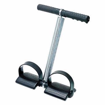Tummy Trimmer Alat Olahraga Pengecil Perut - Alat Pembakar Lemak - Alat Olahraga Fitness - Hitam + Free Polkadope Ikat Rambut - 1 Pcs