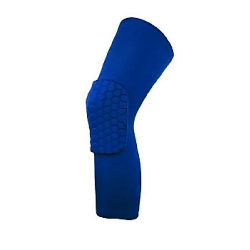 Unisex Professional Anti-collision Basketball Shin Support Knee PadGuard Fitness Sleeve Specification:Long XL blue single pack - intl
