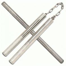 Universal Double Stick Stik Tongkat Pentungan Ruyung Besi Steel Stainless