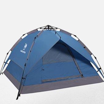 Unta kolam otomatis tenda 3-4 Double Waterproof tenda kemah tenda pelindung matahari - Internasional