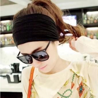 BELI Versi Korea dari olahraga dan kebugaran bertepi lebar ikat kepala yoga karet rambut MURAH