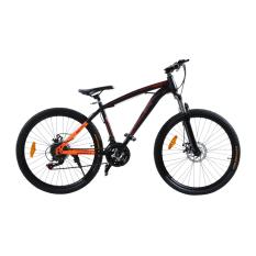 Viva Cycle Morelli 560 Shimano Hi-Ten 26' Sepeda MTB/Gunung 21sp - Matt Black/Orange (JABODETABEK Only)