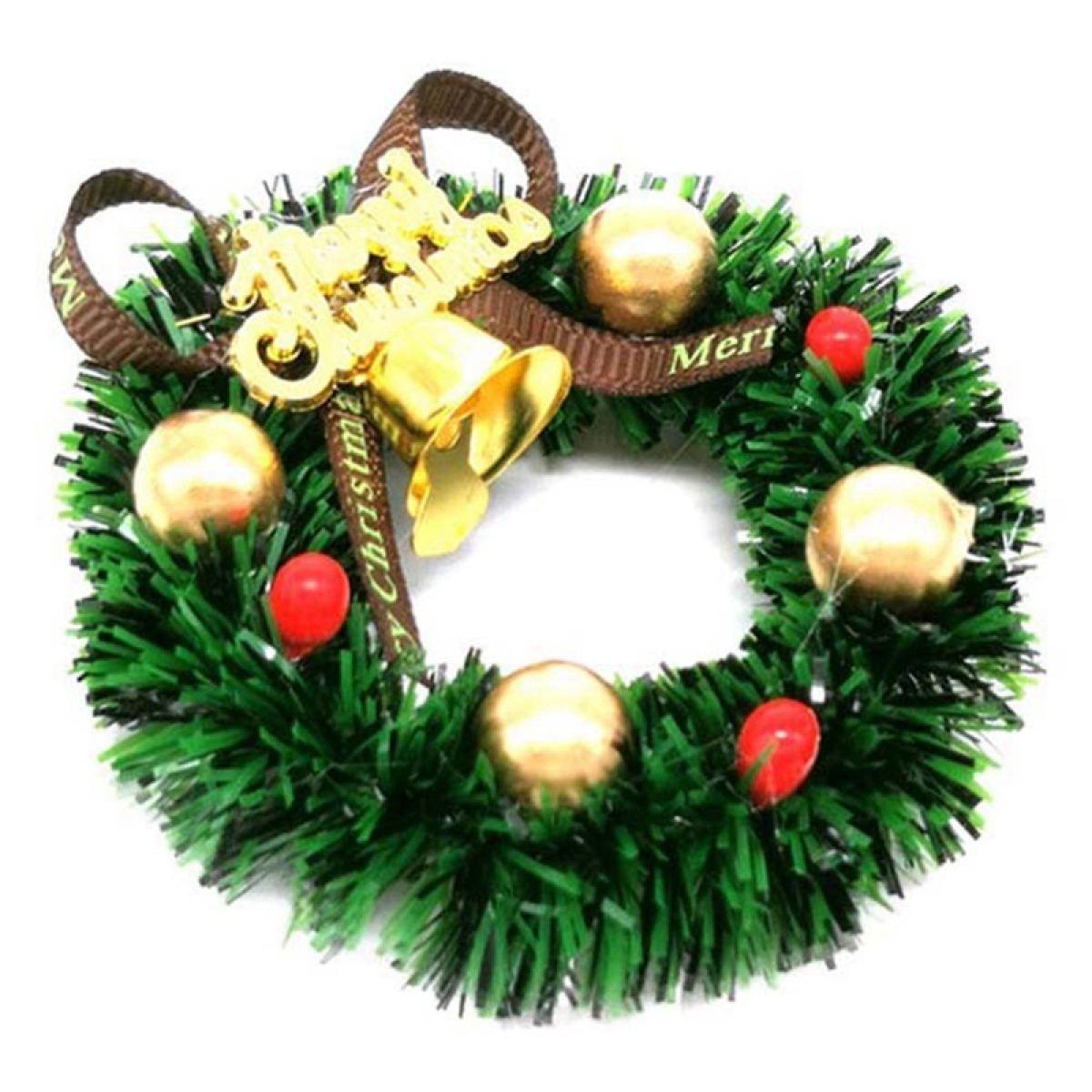 Dolls House Mini Hanging Xmas Wreath Dollhouse Christmas Tree Decoration Garland Kids Pretend Play Toy Lazada