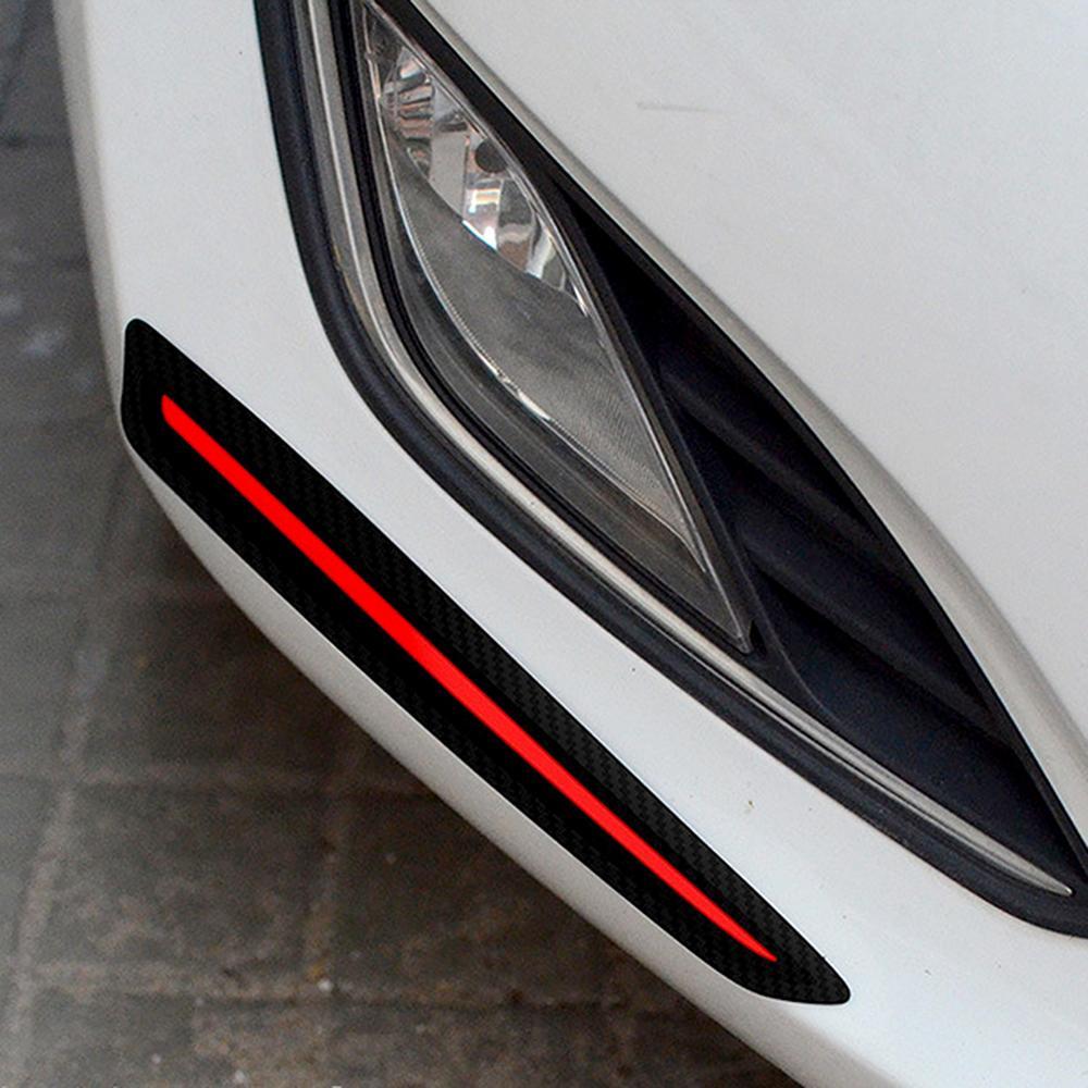 Bumper scratch protection auto decoration anti collision car sticker 2 pieces car styling universal car front rear edge corner guard strip