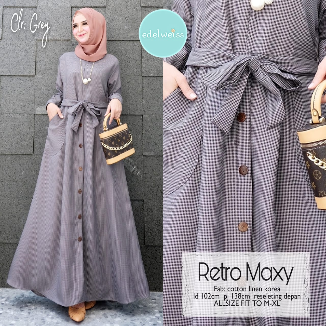 COD Realpict Gamis Retro Maxy Cotton Linen Korea  Gamis Batik Brokat  Muslimah Syari Terbaru  Model Gamis Batik Polos & Kombinasi Terbaru