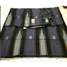 100% Sarung BHS Mercerized Songket Silver 1
