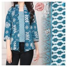 168 Collection Atasan Abaya Blouse Letta Kemeja Batik Wanita