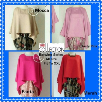168 Collection Atasan Blouse Batwing Series-Fanta