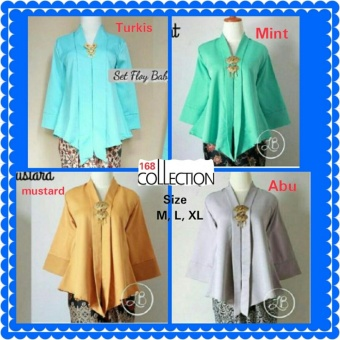 168 Collection Atasan Blouse Laura Kebaya-Abu