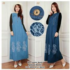168 Collection Dress Celine Overall Jeans Biru Tua Update