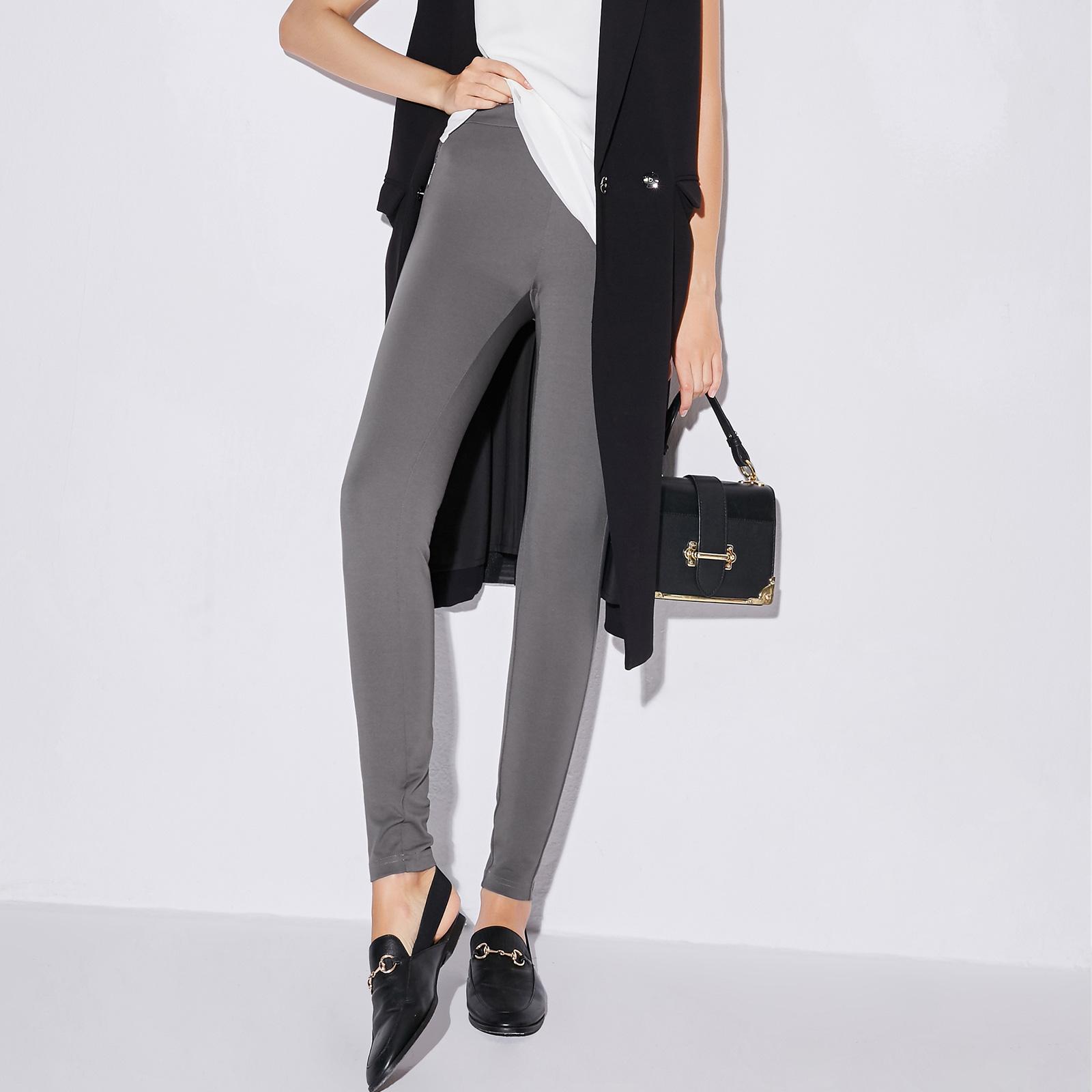 Korea Fashion Style Keelastikan Baru Legging Celana Panjang Legging (Hitam (langkah kaki)-