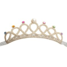 1PC Girls Kids Children Baby Elastic Princess Party Crown Tiara Hair Head Band Light Gold - intl