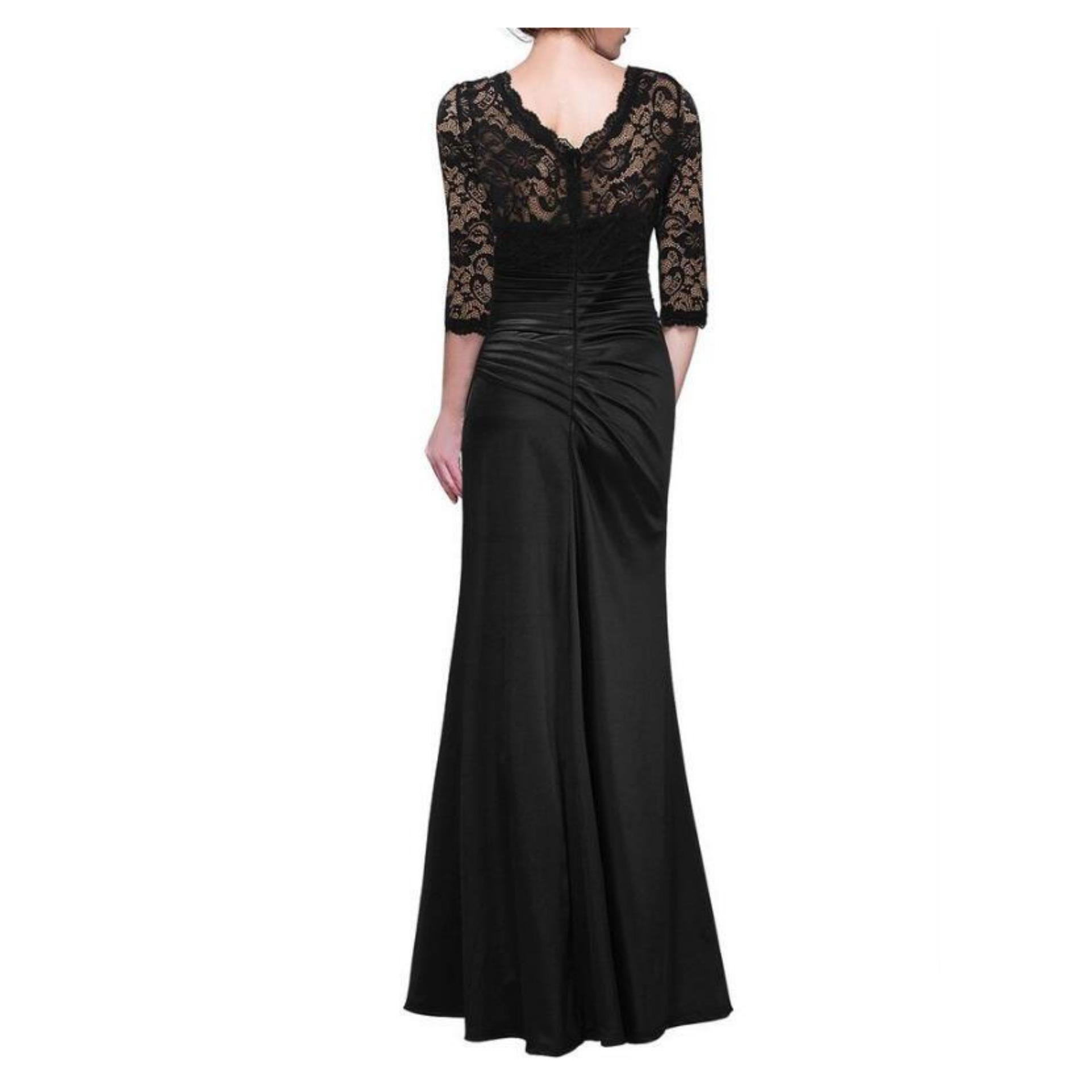Diskon Penjualan 2017 Woman Winter Long Dress Party Evening Elegant ...