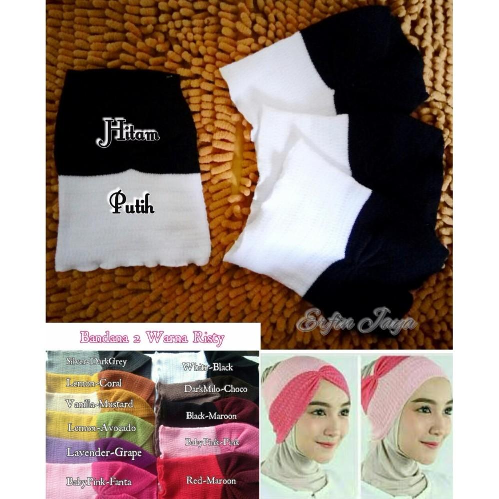 Rimas Inner Bandana Rajut Premium Dalaman Jilbab Kerudung. Source · 20pc Ciput Risty Rajut Model Bandana 2 in 1 Kerut - 2 Warna - Dalaman Hijab