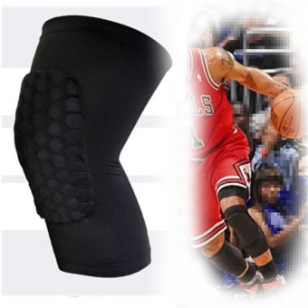 2Pcs Knee Pad Protector Leg Patella Calf Support Guard Sleeve Brace Sports Basketball Black M ...