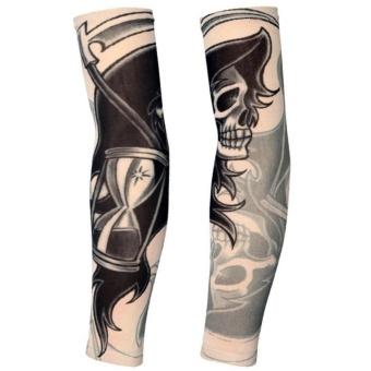 Gambar 2Pcs Tattoo Sleeves Long Arm Fake Tattoo Sunscreen Sleeves(Type 7) intl