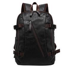 360DSC MENBOSON 8103 Fashion kasual pria PU kulit untuk luar ruangan Ransel Tas Sekolah tas travel