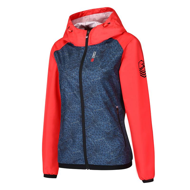 361 derajat kasual berkerudung jaket pakaian tunggal jaket (Bayangan bulan biru/merah)