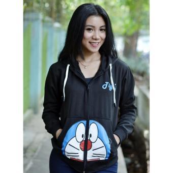 3k Doraemon Stand By Me Sweater - Fleece - Hitam - 4 .