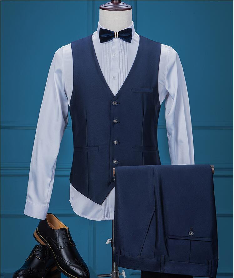 Pencari Harga 3pcs Blue Style Suit Brand Fashion Men Suits Blazer ...
