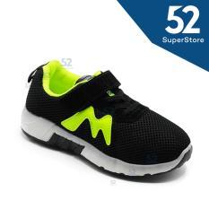 52 Fashion Sepatu Sport Anak 1611-112 - Black - Size 31-36