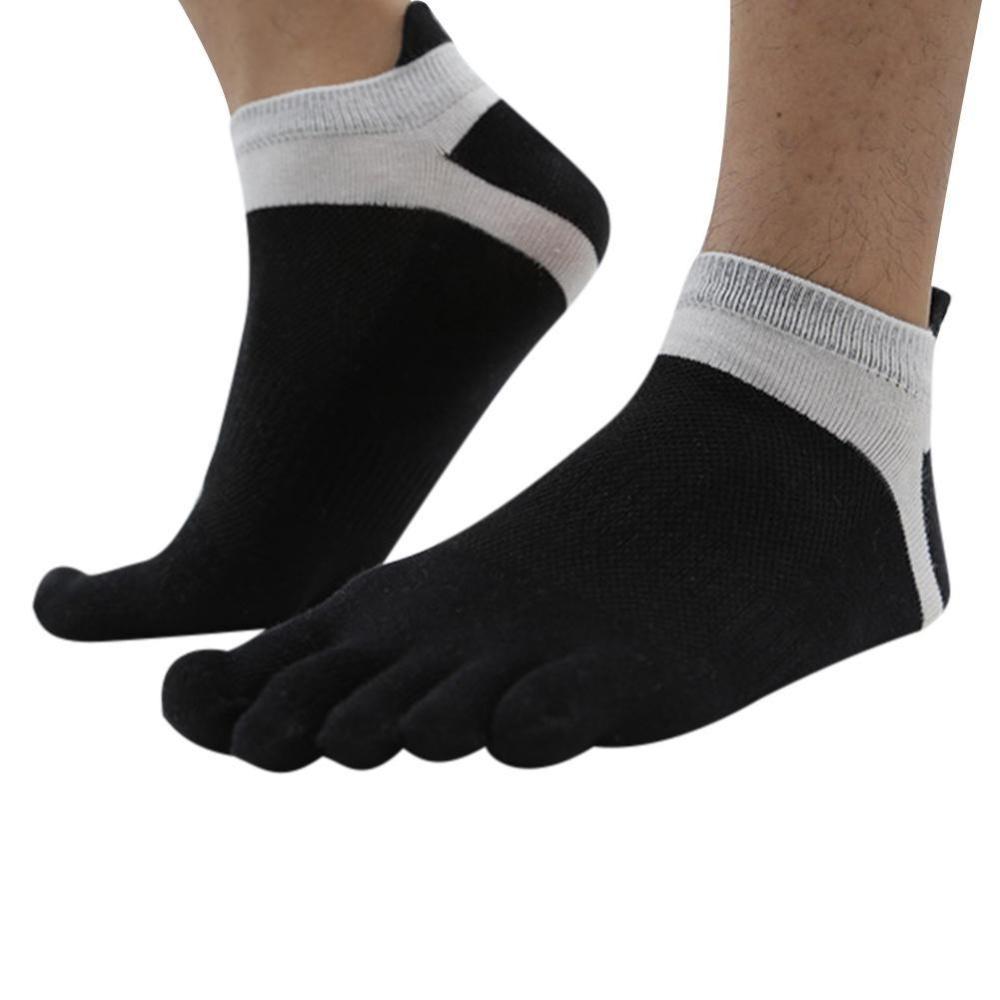 Sunshop Cotton Open Toe Gym Sports Non Slip Half Yoga Pilates Kaos Kaki Marel Socks Men Sock Mc1p 16 Ms008 Black 6pairs Five Finger Low Cut Athletic Mesh