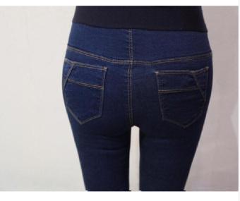 923# Pants Denim Jeans Baju Hamil ABS - 3