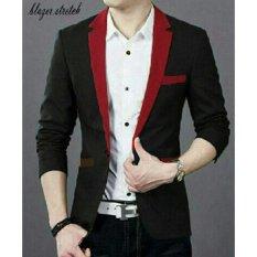 ACE Fashion Blazer Hugo - (Hitam - Maroon)
